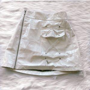 LF Latex White Skirt